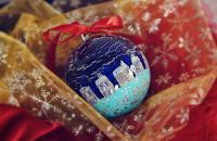 Kalėdinių eglutės žaisliukų gamyba (dekupažu)